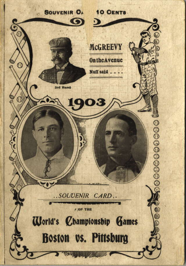 1903 World Series scorecard cover